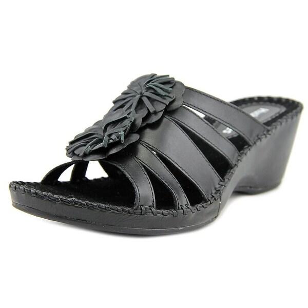 Hush Puppies Gallia Copacabana Open Toe Leather Wedge Sandal