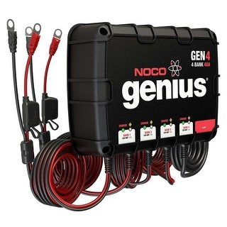 Noco Genius GEN4 40A Onboard Battery Charger - 4 Bank Onboard Battery Charger