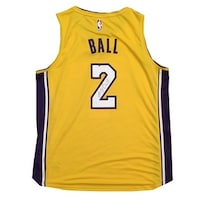 Lonzo Ball Autographed Los Angeles Lakers Signed Basketball Jersey Beckett  BAS COA 4 c227fa51d