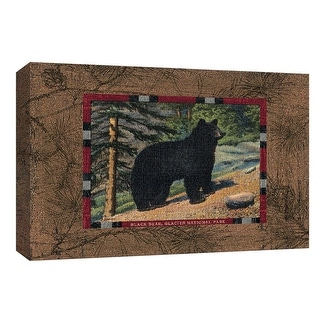 """PTM Images 9-154075  PTM Canvas Collection 8"""" x 10"""" - """"Black Bear I"""" Giclee Bears Art Print on Canvas"""