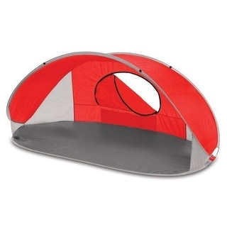 Picnic Time Manta SHELTER, Portable Lightweight Sun & Wind POP UP TENT, Red