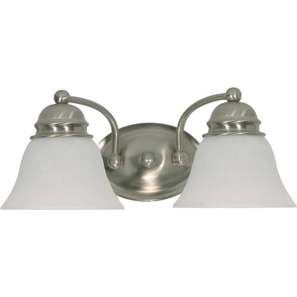 """Nuvo Lighting 60/341 Empire 2 Light 14.9"""" Wide Vanity Light with Alabaster Glass Shades"""