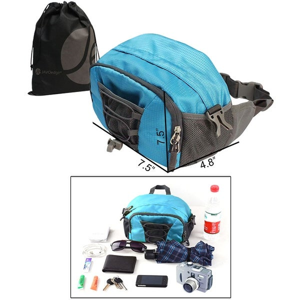 Blue Water Bottle and Accessories Dual Function Storage Shoulder / Funny Pack for Biking, Hiking, Sports