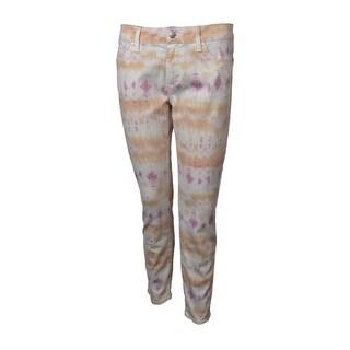 "Else Women's Floral Print 28"" Skinny Ankle Pants (29, Pastel Sunset) - pastel sunset - 29"