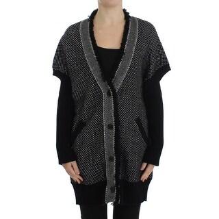 Dolce & Gabbana Dolce & Gabbana Gray Knitted Cashmere Cardigan