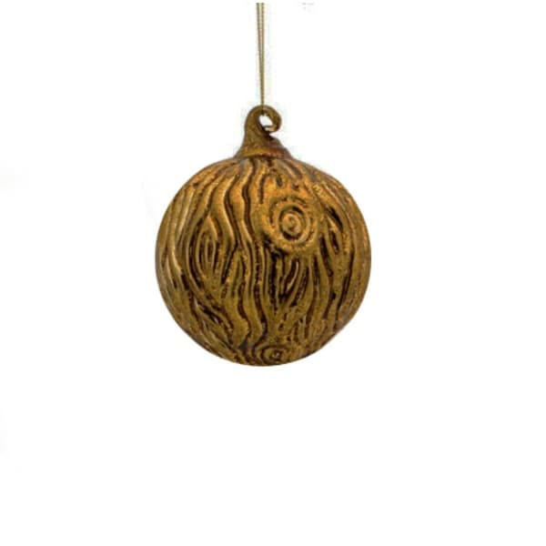 "2.75"" Enchanted Forest Tree Bark Glass Ball Christmas Ornament"