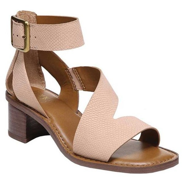 b55b676b768 Franco Sarto Women  x27 s Lorelia Ankle Strap Sandal Peach Kaa Leather