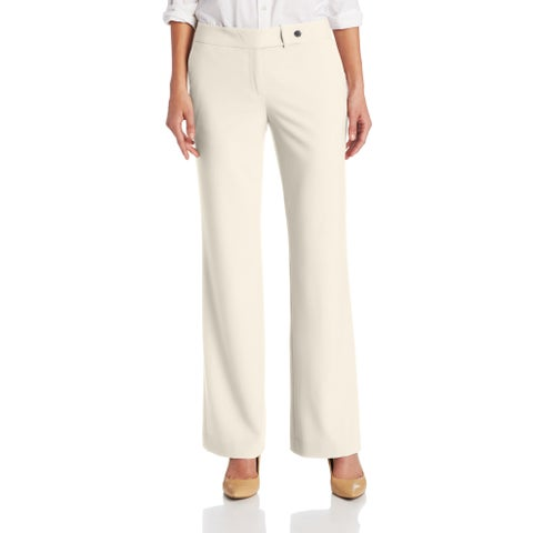 Calvin Klein White Ivory Womens Size 12 Stretch Straight Dress Pants