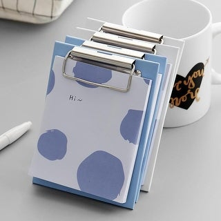 G Home Collection Clipboard Blue Pattern Memo Pad Randomly Picked Set of 3