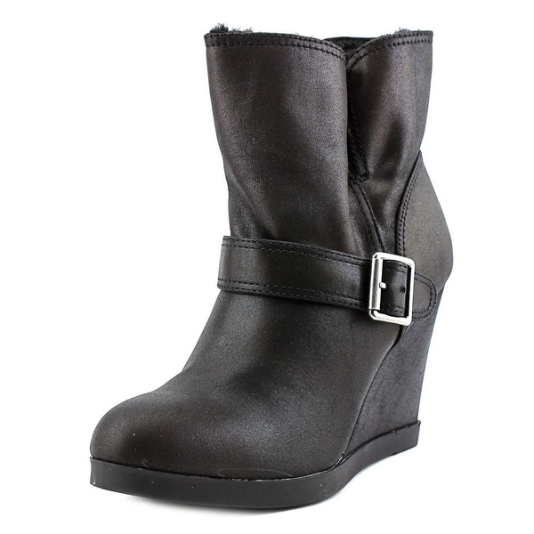 Dune London Pinds Women Round Toe Synthetic Black Ankle Boot