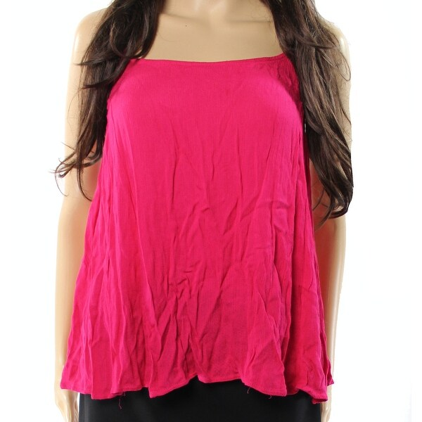 467795c2f Shop Elodie Womens Large Solid Ruffle Trim Swing Cami Top - Free ...