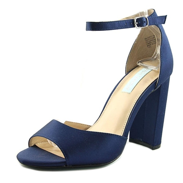 Betsey Johnson Carly Women Open Toe Canvas Blue Sandals
