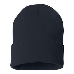 Sportsman 12 Inch Knit Beanie - Navy - One Size