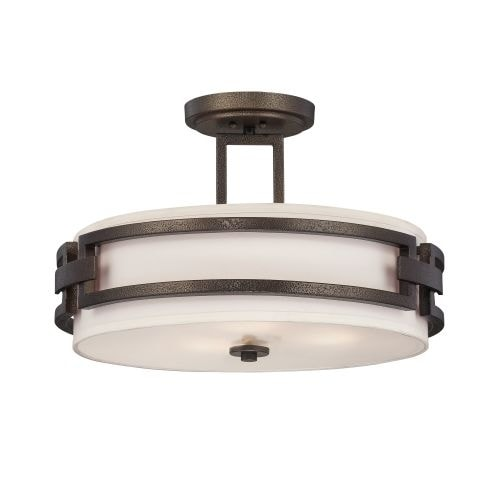 Designers Fountain 83811 3 Light Semi-Flush Mount Ceiling Fixture from the Del Ray Collection