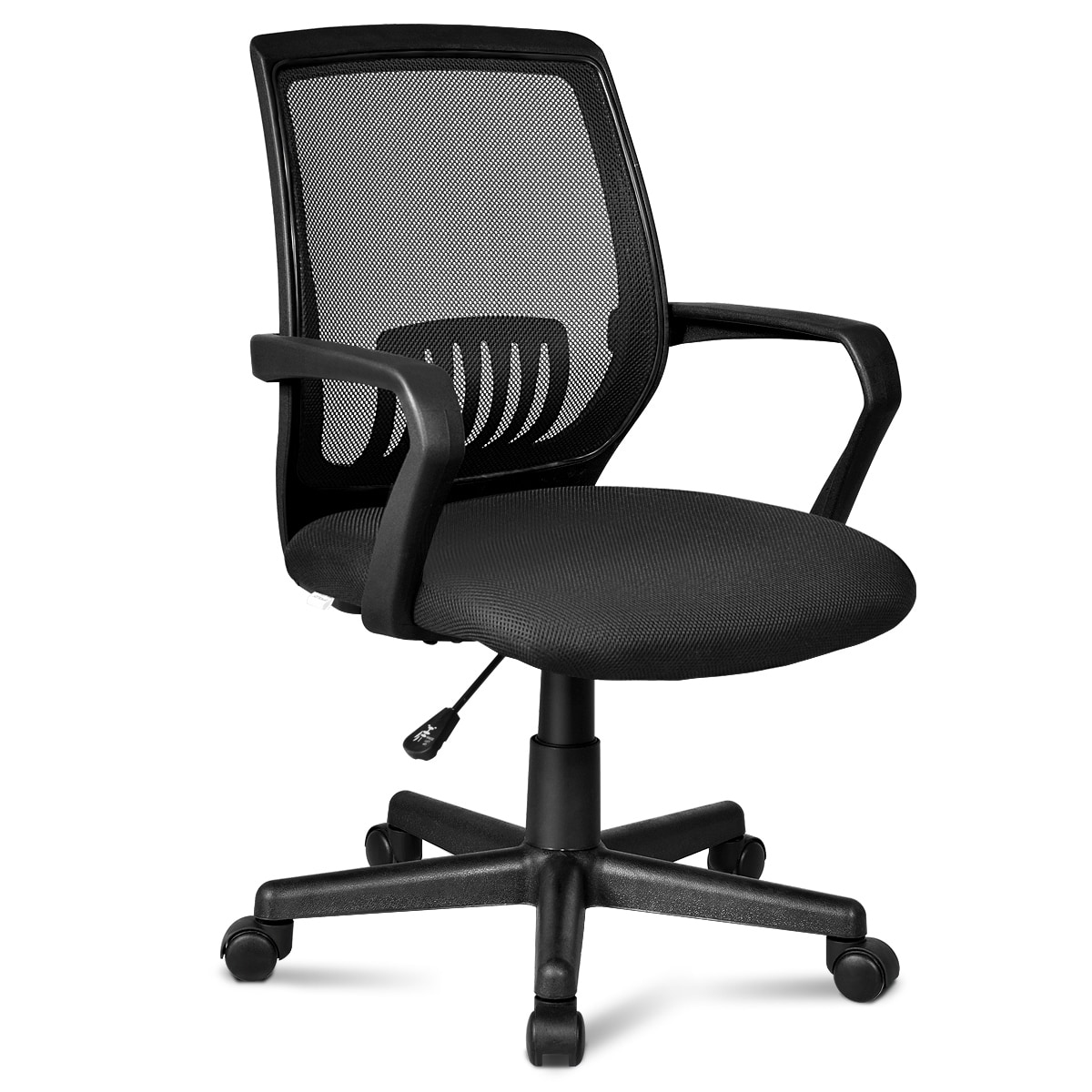 Costway Office Chair Mesh Computer Desk Chair Lumbar Support Adjustable Rolling Swivel