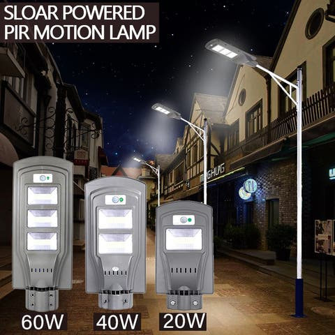 60W LED Solar Sensor Outdoor Light W/Light Control and Radar Sensor