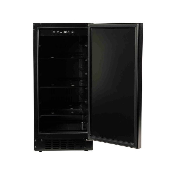"15"" Refrigerator with Solid Overlay Door. Opens flyout."