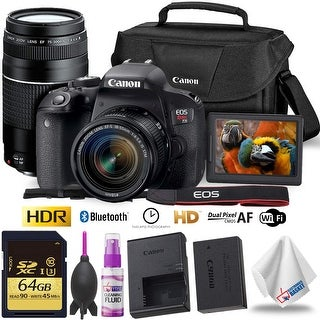 Link to Canon EOS Rebel T7i DSLR Camera with 18-55mm and 75-300mm Lens + Similar Items in Digital Cameras