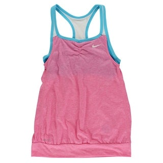 Nike Girls Dri FIT Cool Two In One Cami Tank Pink - Pink/Blue