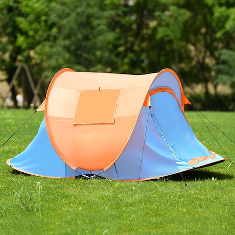 Gymax Portable Automatic Pop-up Tent Water Resistant UV Protection Camping Hiking Bag
