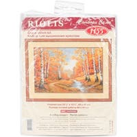 """The Golden Grove Counted Cross Stitch Kit-23.5""""X15.75"""" 10 Count"""