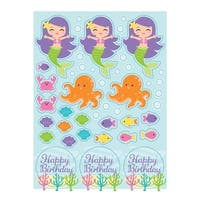 Club Pack of 48 Mermaid Friends Party Value Sticker Sheets 6""