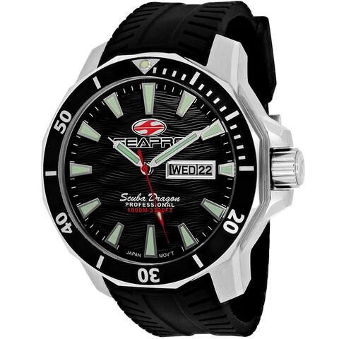 Seapro Men's Scuba Dragon Diver Limited Edition 1000 Meters Black Dial Watch - SP8310ST - One Size