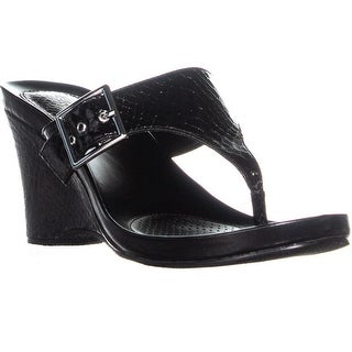 SC35 Chick2 Wedge Sandals, Black - 7 us