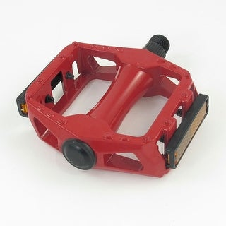 Racing Bicycle Antislip Foot Metal Platform Pedal Red