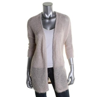 Love Always Womens Knit 3/4 Sleeves Cardigan Sweater - S