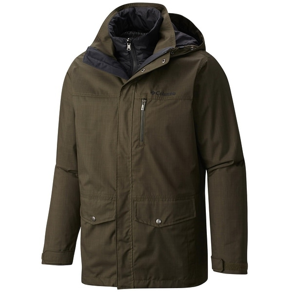 abffa1731714 Columbia Eagle  x27 s Call 3-in-1 Interchange Windbreaker Jacket Olive