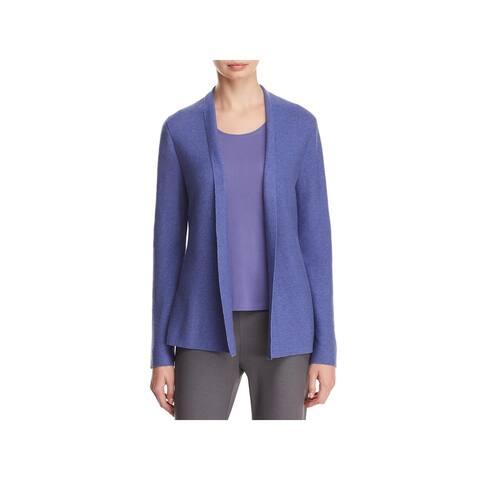 Eileen Fisher Womens Cardigan Sweater Organic Cotton Rib Knit