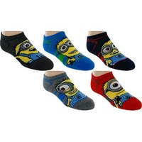 Despicable Me Minions No-Show Socks, 5-Pack, 6-8.5