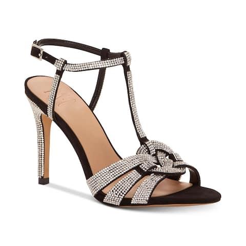 INC International Concepts Women's Rowyn Rhinestone Evening Sandals Dark Gray Size 8 M - 8 M