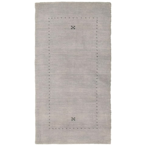 Hand-knotted Kashkuli Gabbeh Grey Wool Rug