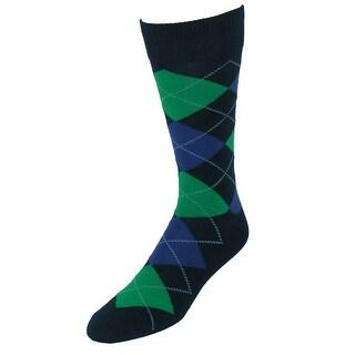 Fine Fit Men's Argyle Dress Socks