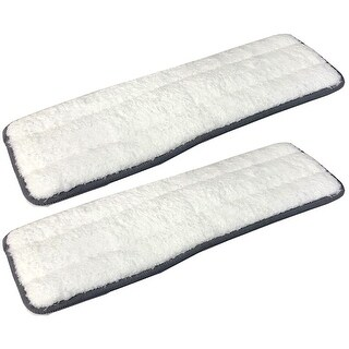 Cleantec Magic Flat Mop Microfiber Machine Washable Refill Pads, 2 Count - White