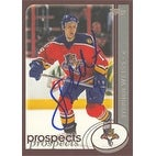 Stephen Weiss Florida Panthers 2002 Topps Prospects Autographed Card Rookie Card This item comes