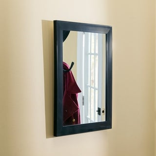 Link to Contemporary Rectangle Wall Mirror, Black - Mahogany Similar Items in Mirrors