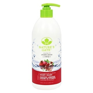 Nature's Gate Body Wash Moist Pomgrnt 18-ounce