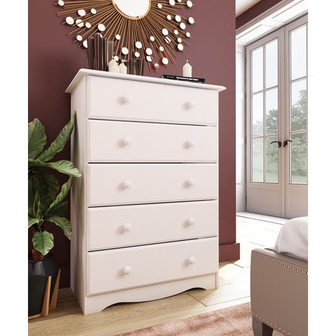 Copper Grove Caddo Solid Wood 5-drawer Chest