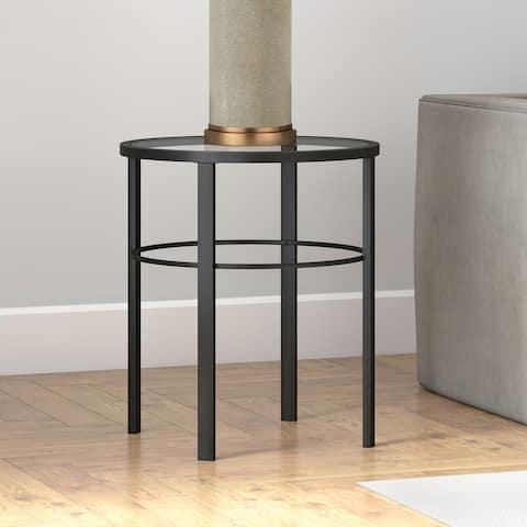 Porch & Den Mauzey Blackened Bronze Finish Side Table