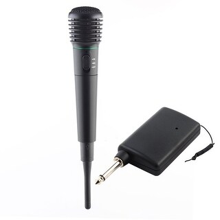 Unique BargainsHome Stage Lavalier Hand Held Wireless Wired Microphone Receiver System Set