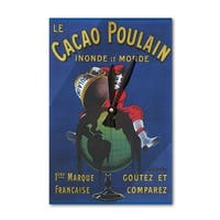 Cacao Poulain - Vintage Advertisement (Acrylic Wall Clock) - acrylic wall clock
