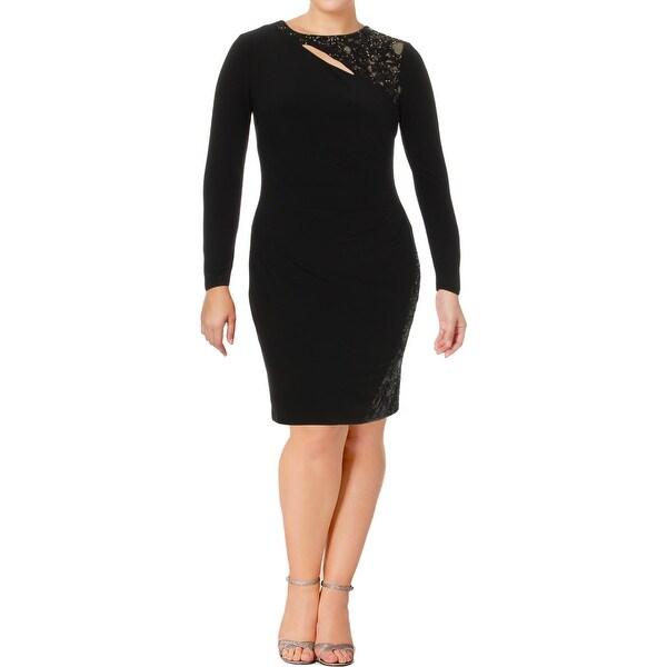 Lauren Ralph Lauren Womens Cocktail Dress Sequined Knee-Length