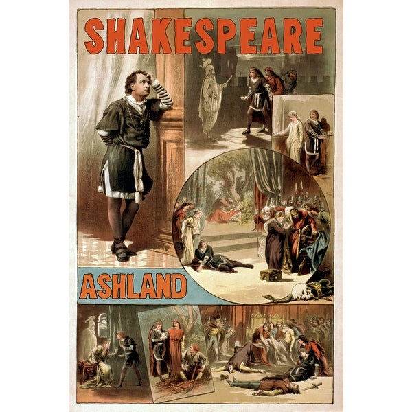 Ashland OR Shakespeare Hamlet - Vintage Ad (Light Switchplate Cover)