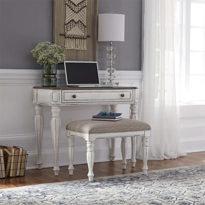 Magnolia Manor Antique White Accent Vanity Desk Overstock 28056543