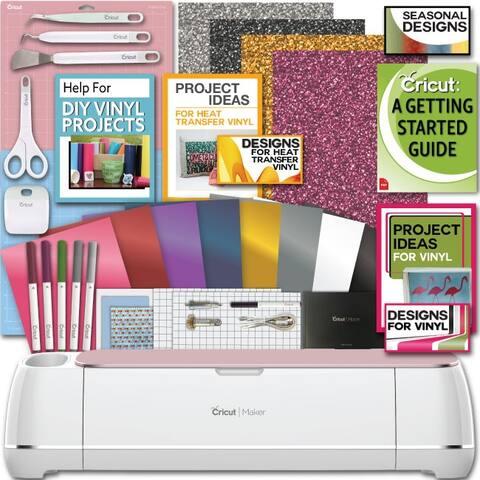 Cricut Maker Machine Bundle 1 Smooth Heat Transfer Perm. Vinyl Tools Designs Guide