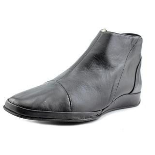 Amalfi By Rangoni Elfreda Women Square Toe Leather Black Bootie