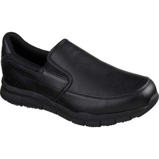 Skechers Men's Work Relaxed Fit Nampa Groton Slip Resistant Shoe Black